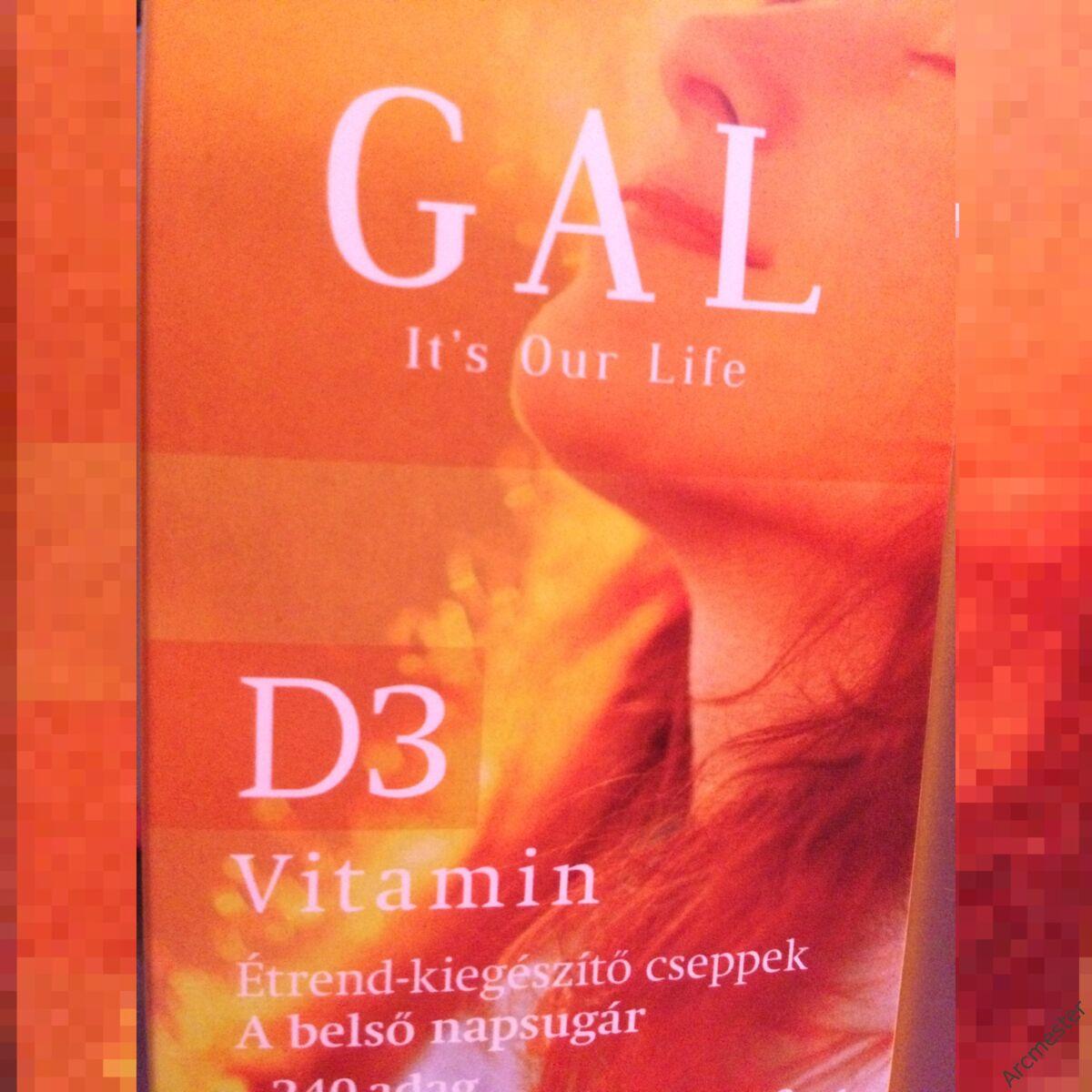 GAL D3 vitamin A belső napsugár cseppek