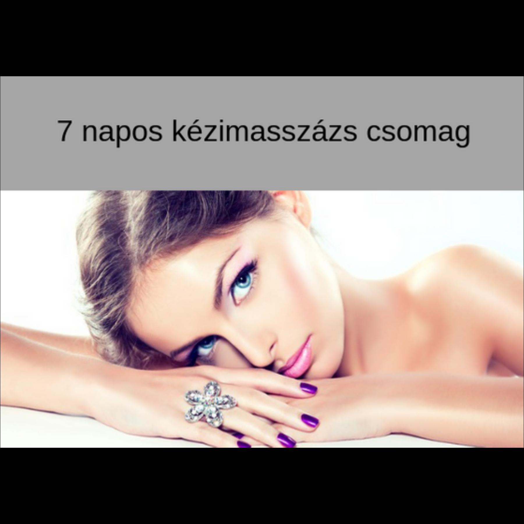 7 napos Kézi arcmasszázs  - online