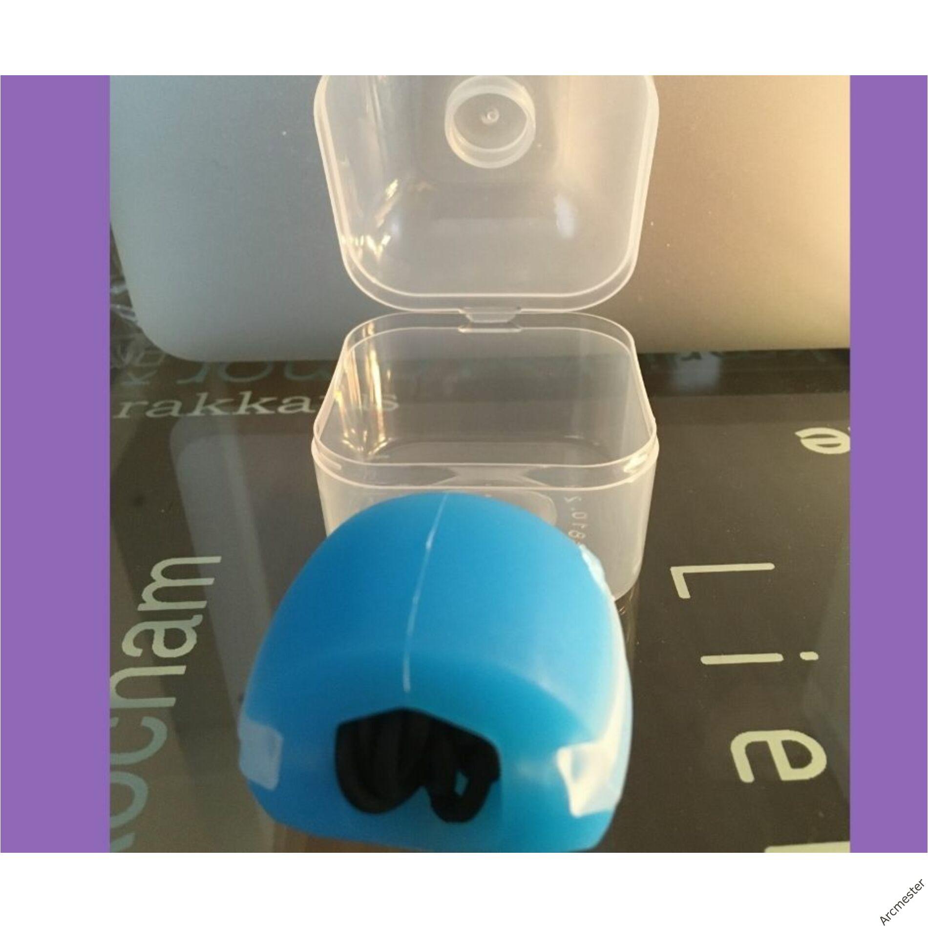 Arcizomedző labda kék+ műanyag doboz