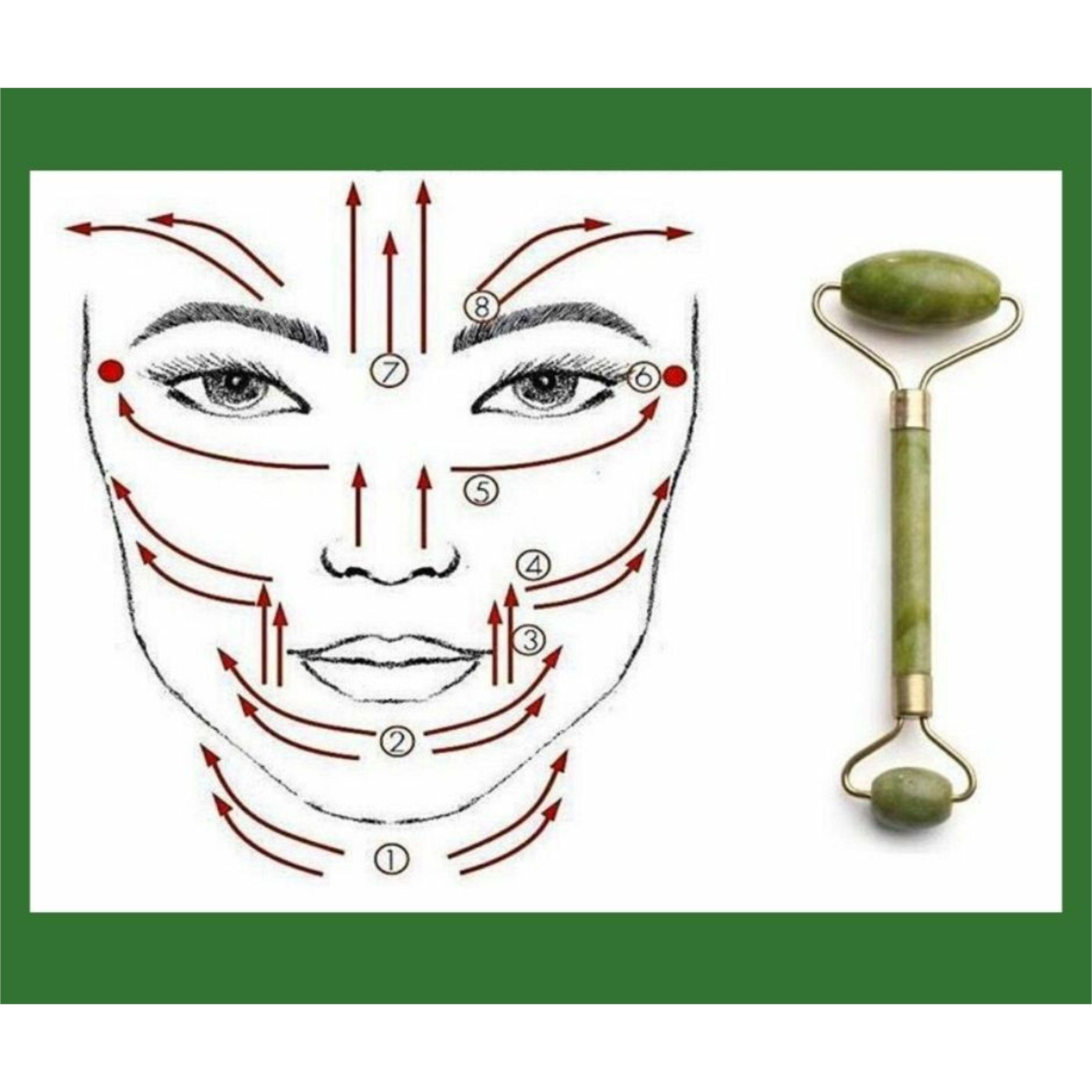 Jade arcmasszírozó masszázsos fejjel