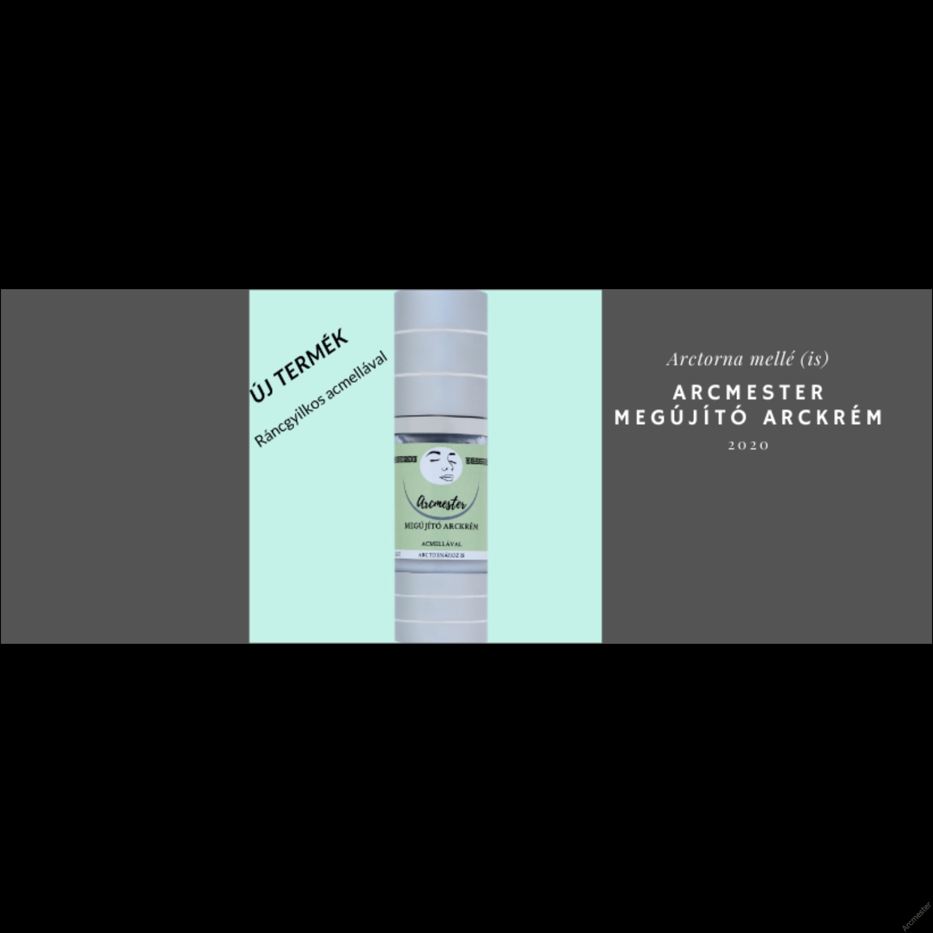 ARCMESTER MEGÚJÍTÓ ARCKRÉM Ráncgyilkos Acmellával -natúrkozmetikum