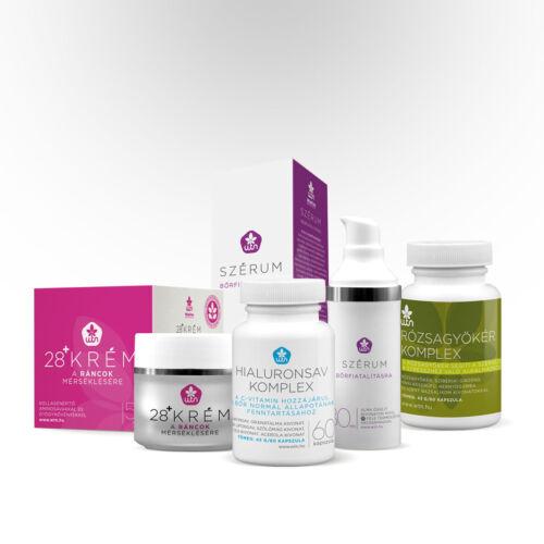 Öregedésminimalizáló csomag - komplex megoldás hyaluronsavas arckrém és étrendkiegészítők